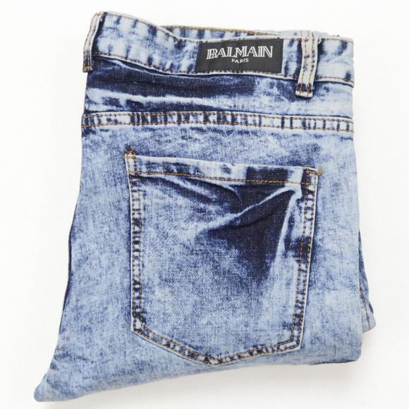 0a31a61f3 Balmain Other - Balmain Acid Washed Biker Moto Jeans Joggers 38